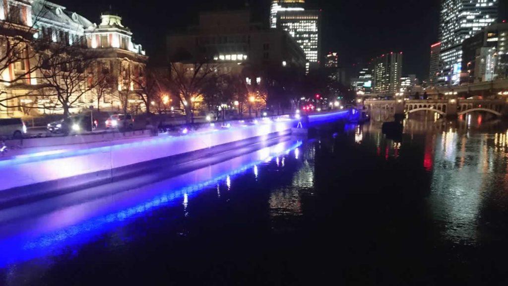 堂島川ライトアップ工事