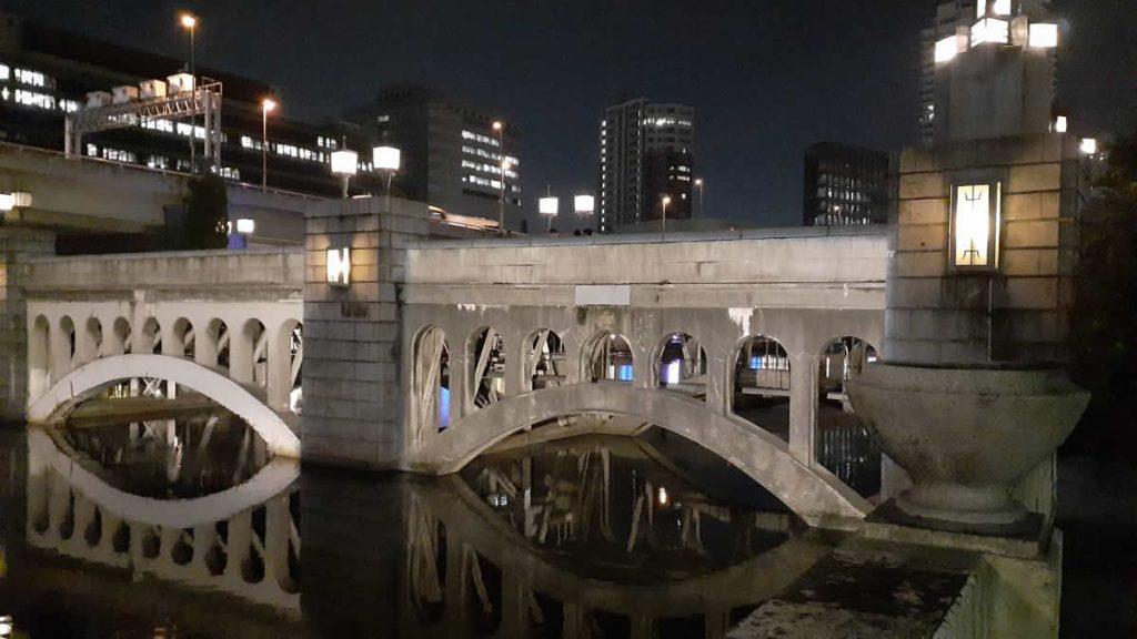 水晶橋ライトアップ工事